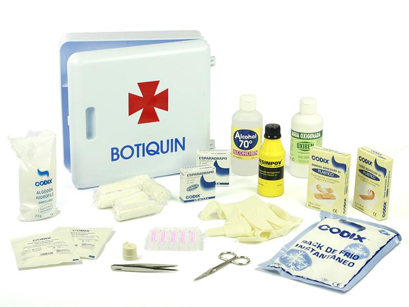 Es importante tener preparado un botiquín de primeros auxilios.