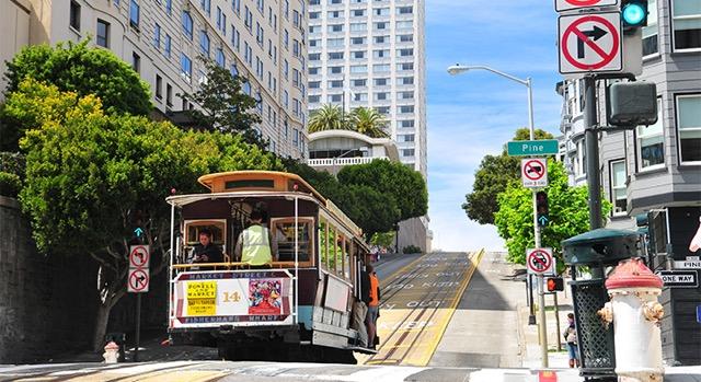 Vista de una calle de San Francisco, California.