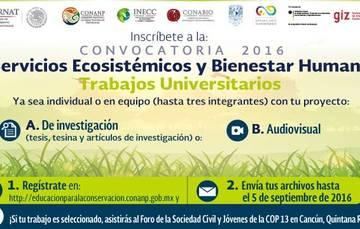 Registrate en http://educacionparalaconservacion.conanp.gob.mx/