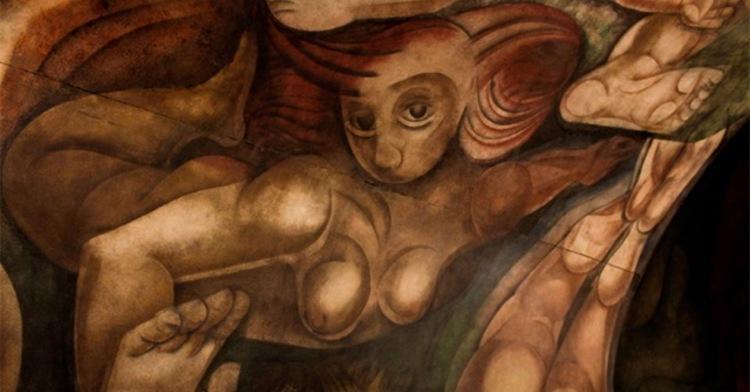 """Imagen del mural """"Ejercicio plástico"""" de Siqueiros. Buenos Aires, Argentina."""
