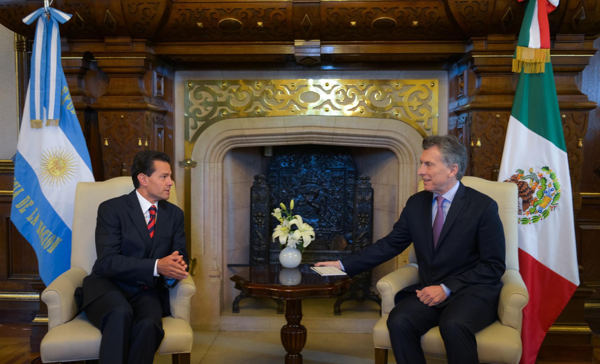 """""""Hoy estamos aquí dando un nuevo impulso y construyendo una nueva etapa en la relación entre Argentina y México"""": EPN"""