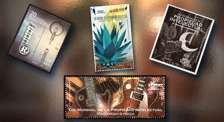 Primera estapilla postal en México