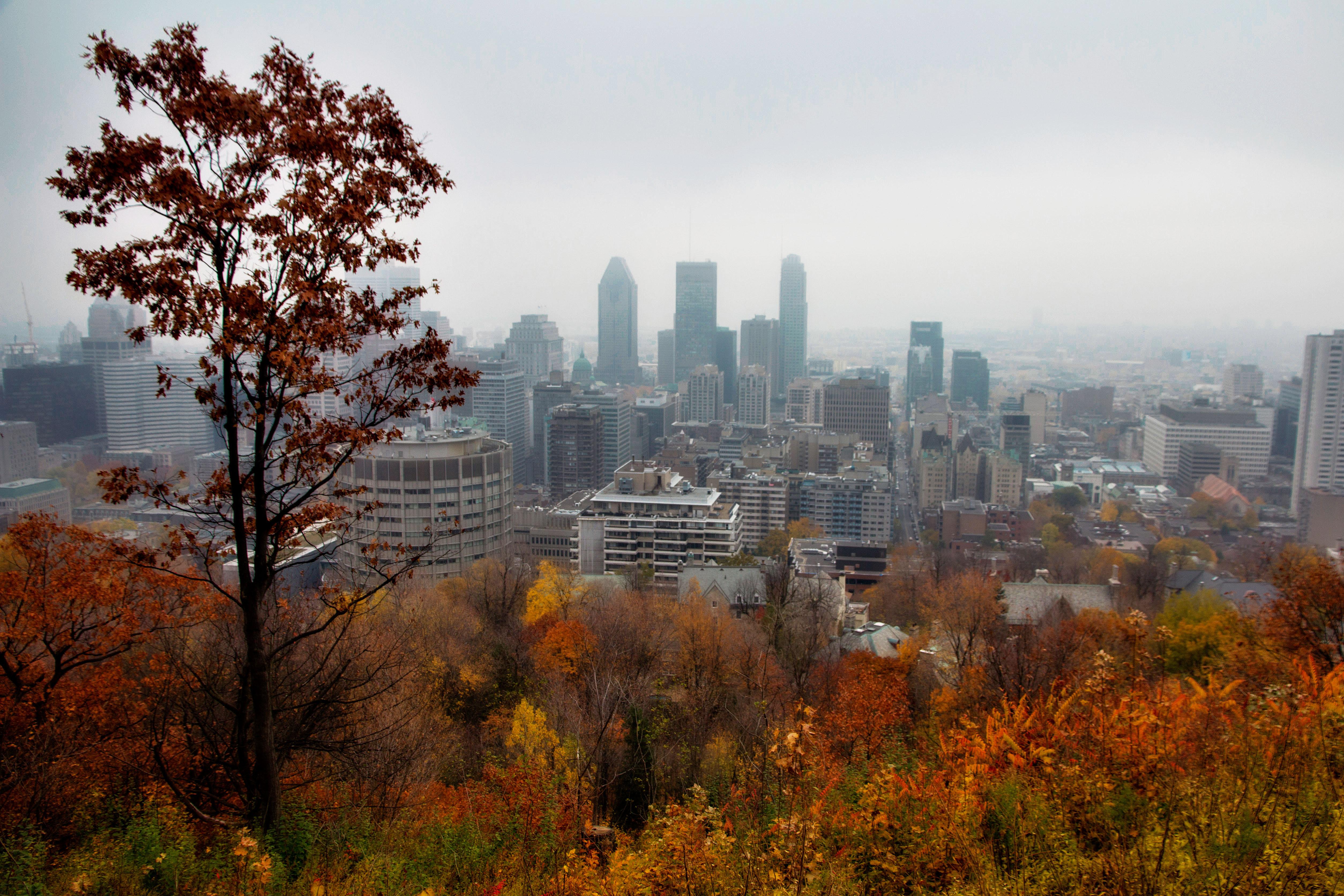 Centro de la ciudad de Montreal, Canadá.