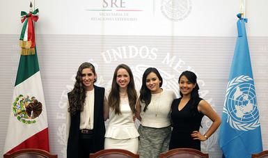 Participantes de la Delegación de ONU México en 2015