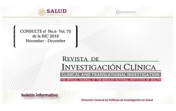 La portada del Boletín informativo para investigadores de la CCINSHAE, correspondiere al lunes 10 de diciembre  alusiva a la revista de Investigación