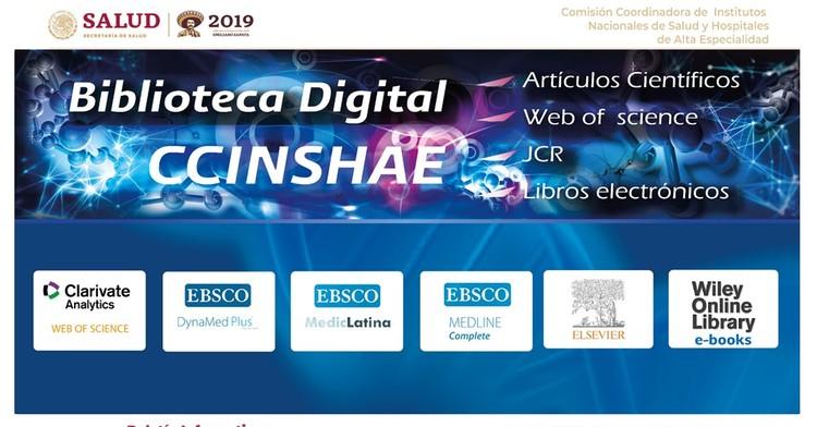 La portada del Boletín informativo para investigadores de la CCINSHAE, correspondiere al lunes 11 de Marzo 2019,biblioteca digital
