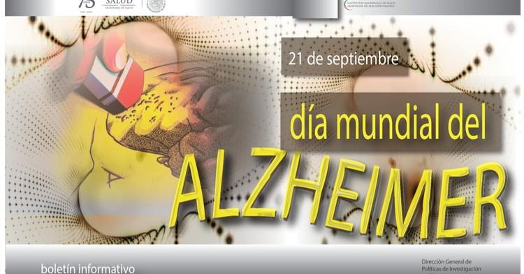La portada del Boletín informativo para investigadores de la CCINSHAE correspondiere al lunes 17 de septiembre del 2018 se dedica al  Día Mundial ALZHEIMER