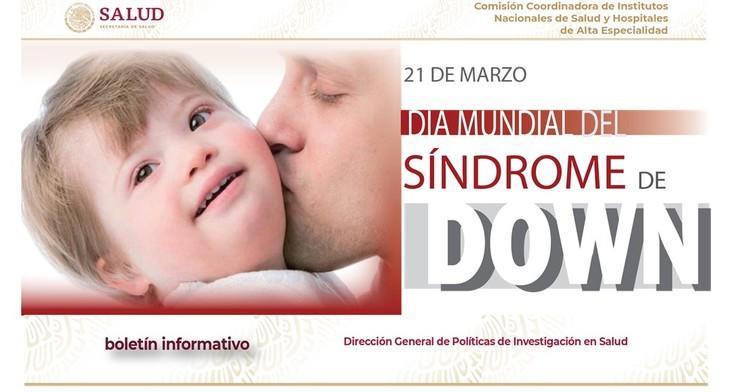 La portada del Boletín informativo para investigadores de la CCINSHAE, correspondiere al lunes 18 de Marzo 2019, día mundial del síndrome de down.