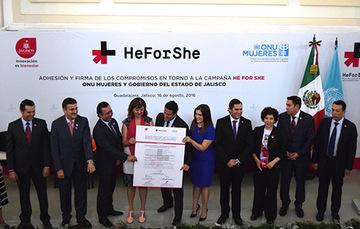 Jalisco firma el pacto #NosotrosPorEllas (HeForShe)