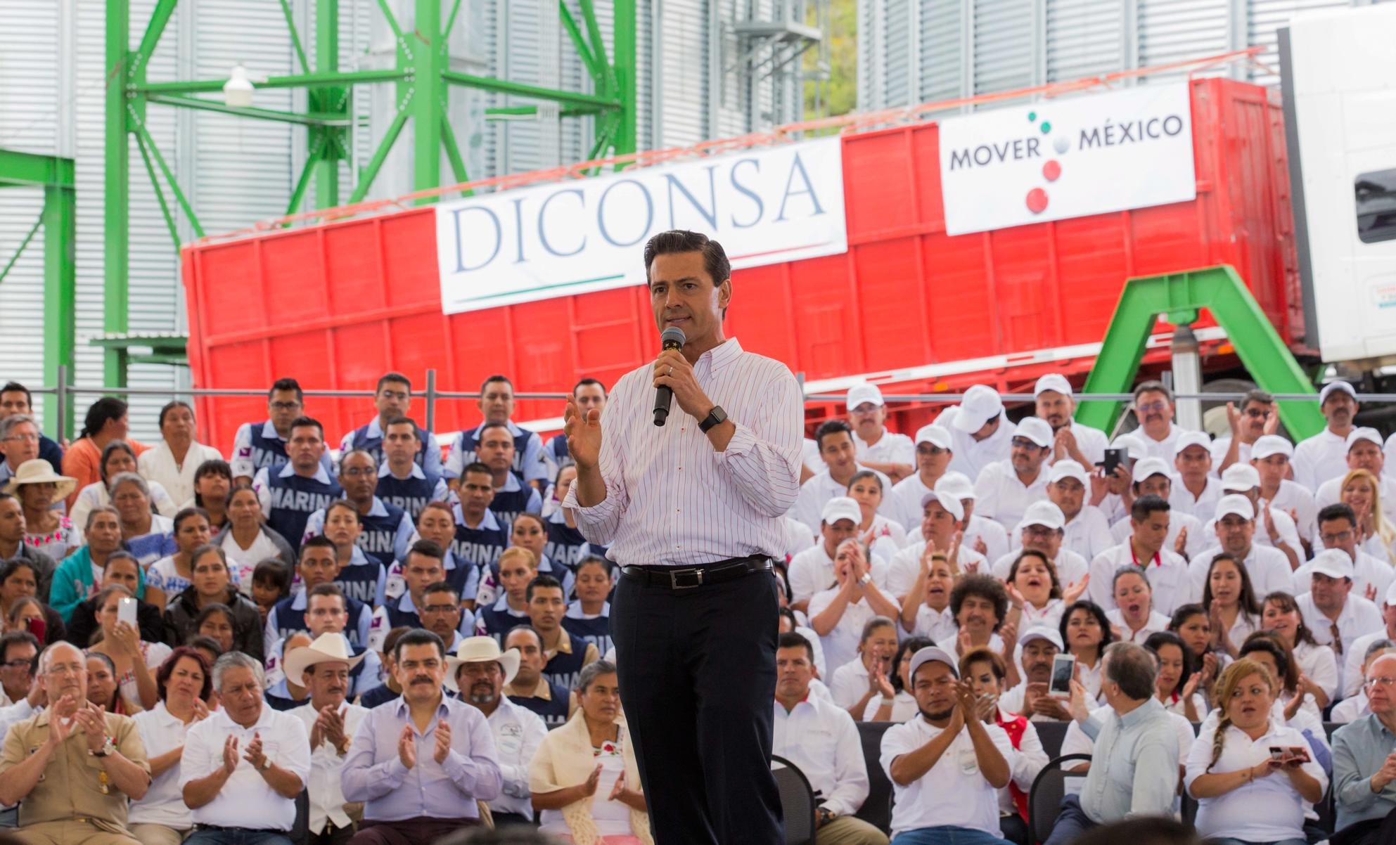 """Last Sunday, the Finance Secretariat announced the government's determination to reduce the rates of LP gas, consumed by nearly 90 million Mexicans"". EPN"