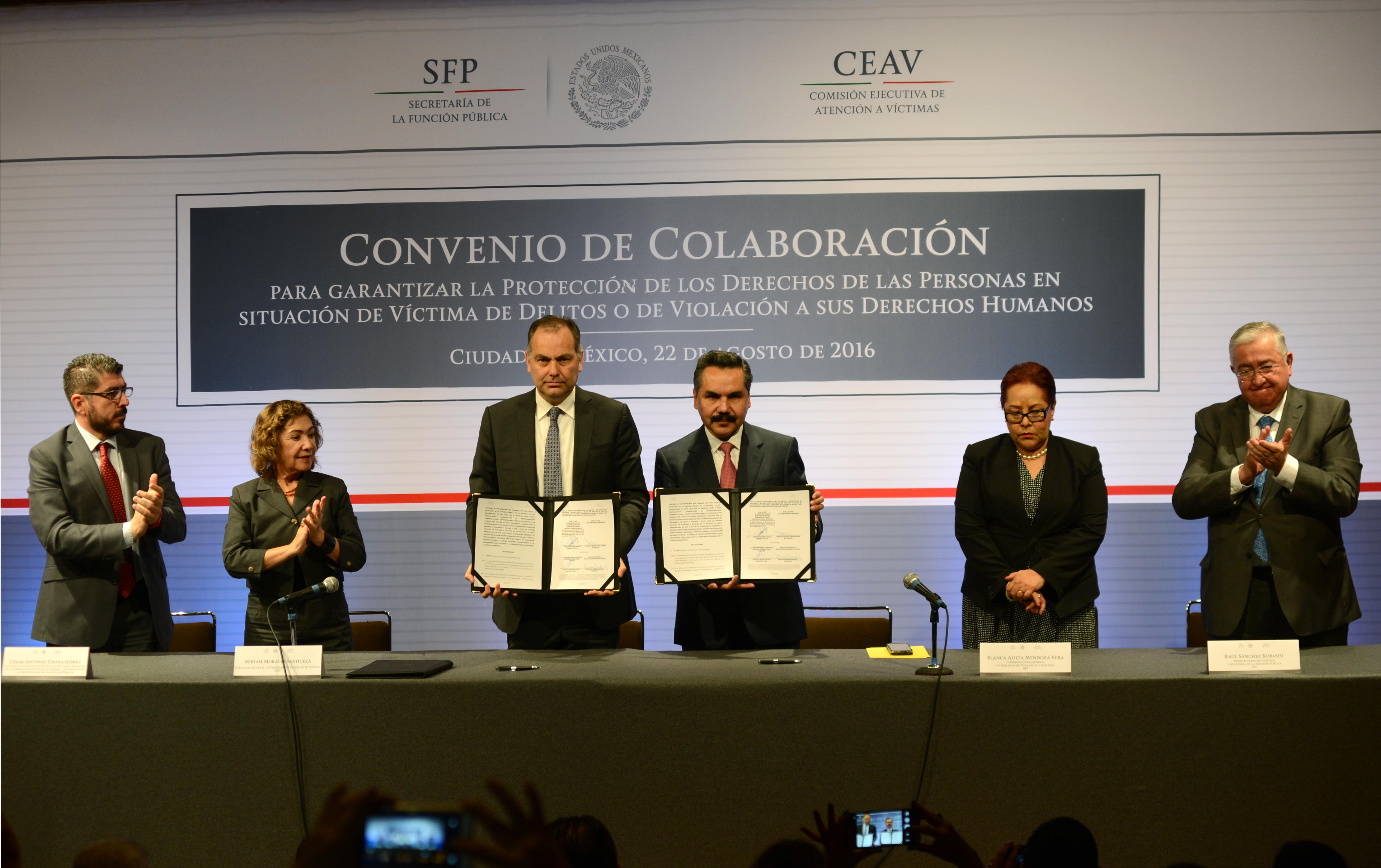 SFP y CEAV firman convenio de colaboración
