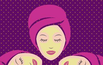 Mujer con mascarilla.