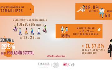 #DatoCurioso en Tamaulipas una de cada tres mujeres de 15 a 29 años tiene al menos un hijo