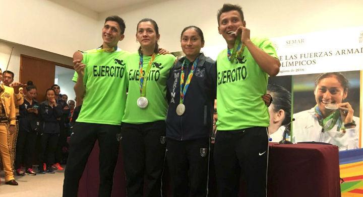 Fueron recibidos los atletas mexicanos de las fuerzas armadas que compitieron en los Juegos Olímpicos de Río de Janeiro 2016