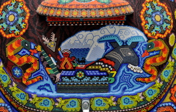 Traditional Huichol beadwork. Image from Creative Commons, by Katie Bordner