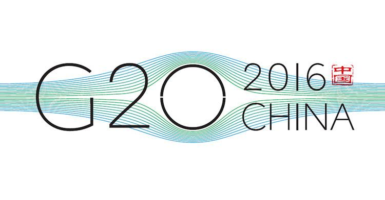 Logotipo G20 2016 en China.