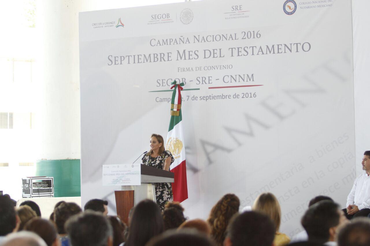 La Canciller Ruiz Massieu en la firma del convenio entre SEGOB y SRE por el #MesDelTestamento.