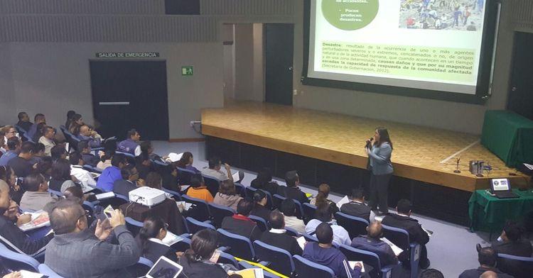 imagen tomada en el auditorio del CENAPRED