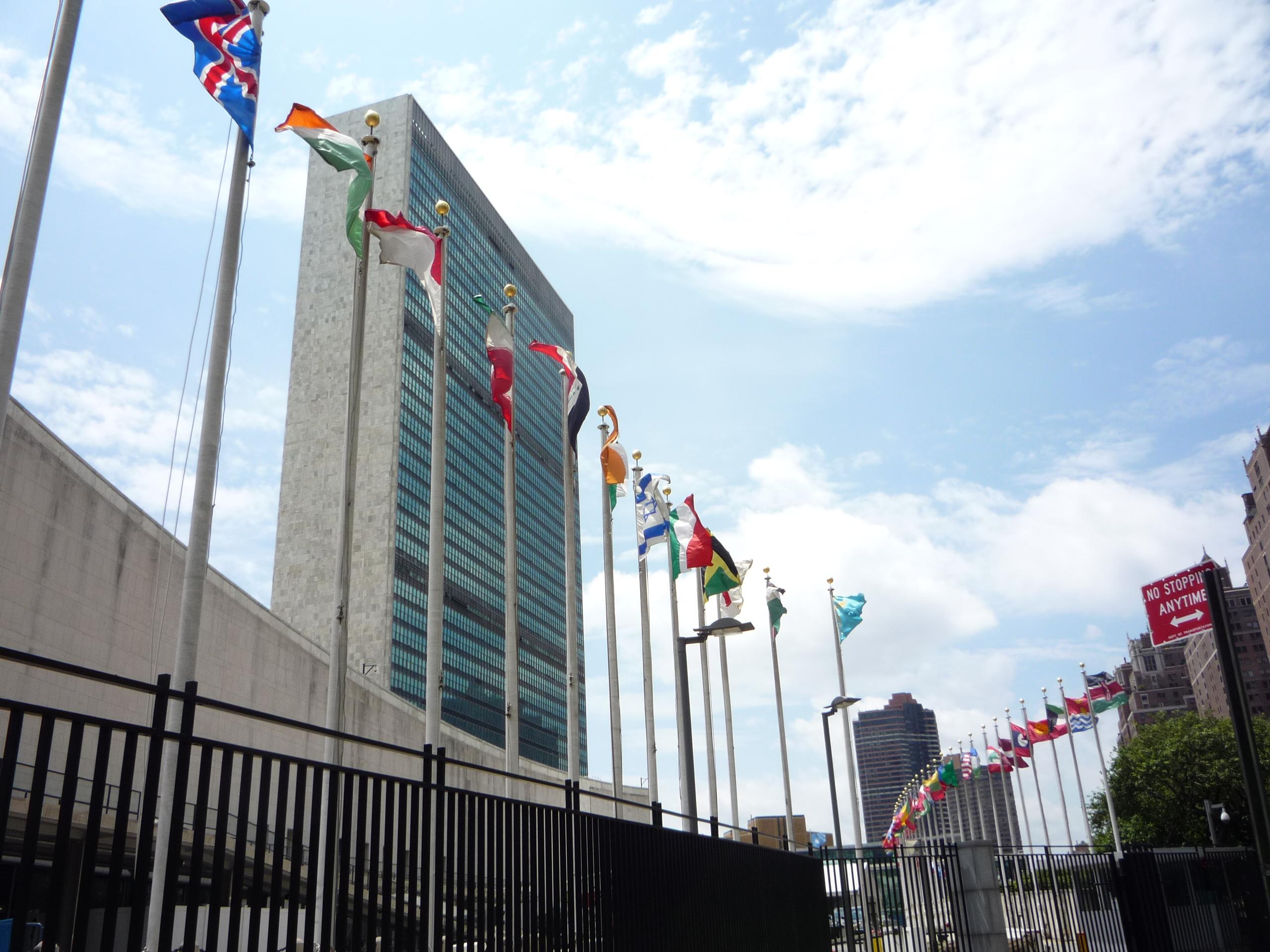 Sede de Naciones Unidas en Nueva York, foto de CLEM vía Creative Commons.