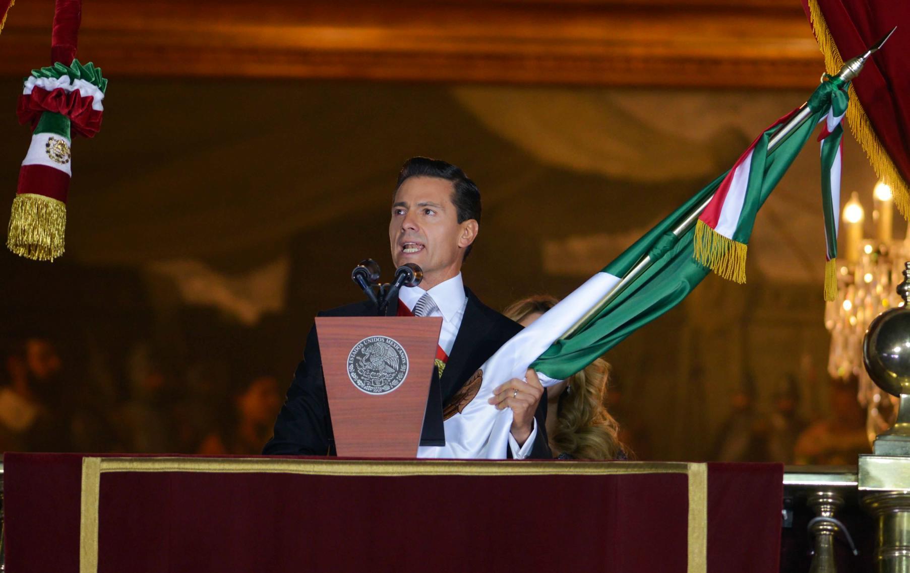 """""""...Viva la Independencia Nacional. Viva México. Viva México. Viva México"""": EPN"""