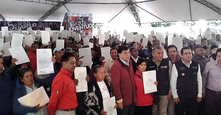 Entrega de Documentos Agrarios en Tlaxcala