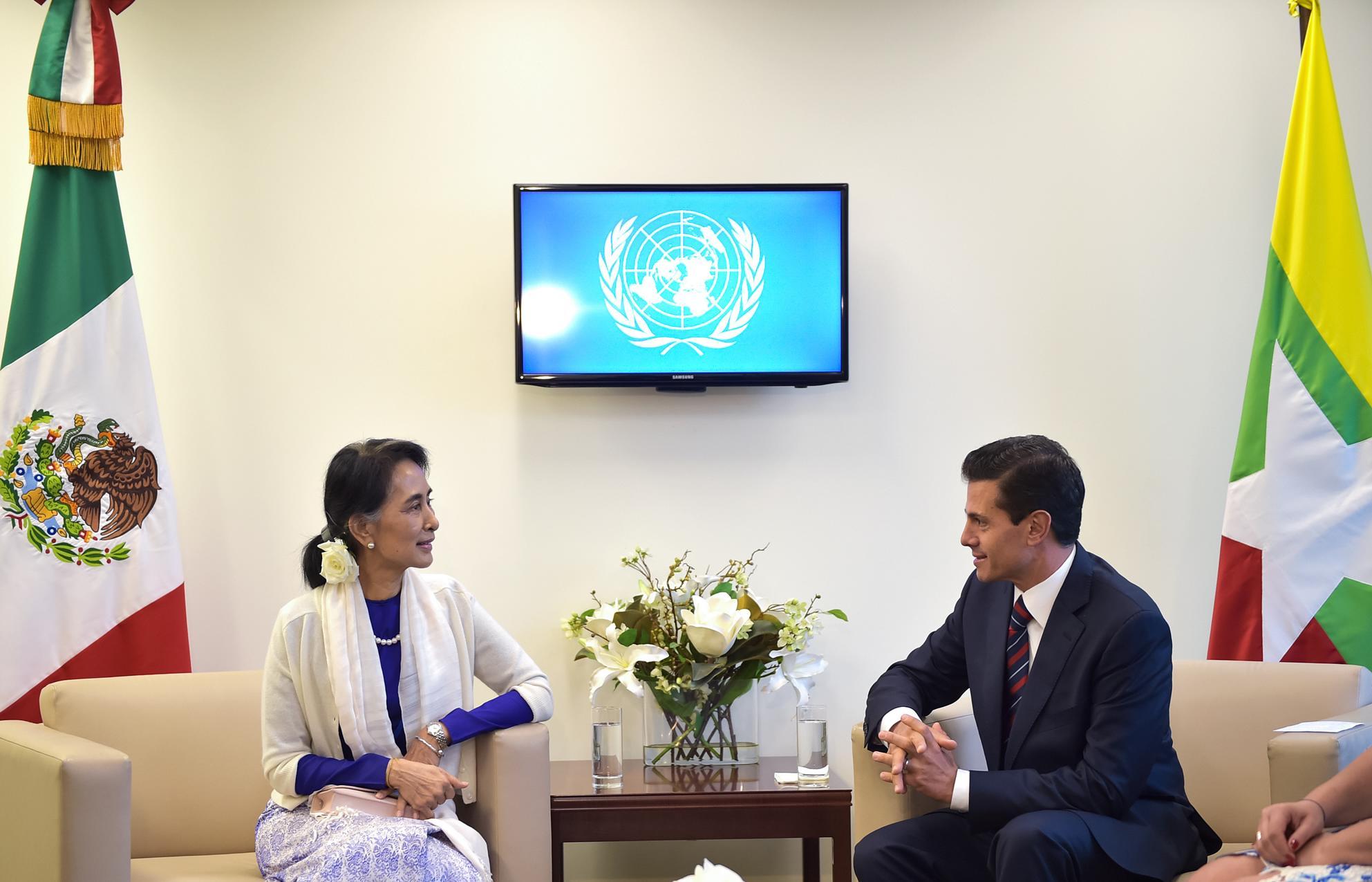 La Sra. Aung San Suu Kyi, recibió el Premio Nobel de la Paz en 1991.