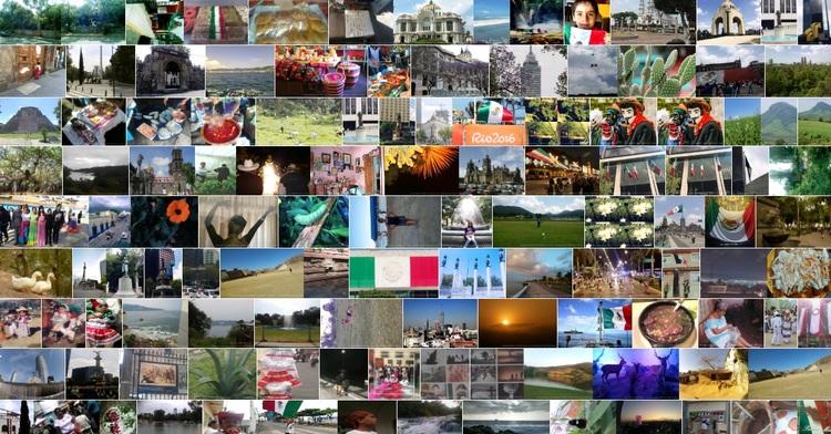 Collage de fotografías de Sentimientos de México
