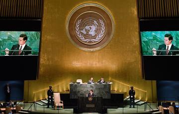 """""""Frente a estos retos, debemos dejar atrás la indiferencia y promover la actuación corresponsable y solidaria de la comunidad internacional con los migrantes y los refugiados"""": EPN"""