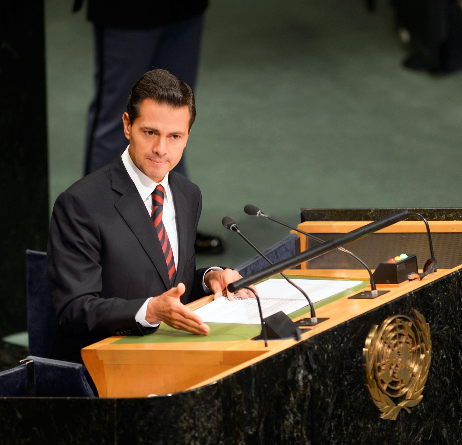 """""""Como presidente de la Alianza, durante el periodo 2014-2015, trabajamos para que el gobierno abierto se convirtiera en un habilitador de los Objetivos de Desarrollo Sostenible de la Agenda 2030"""": EPN"""