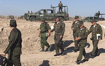 Visita de supervisión a los trabajos que se realizan para la construcción de la 11/a. Brigada de Policía Militar.