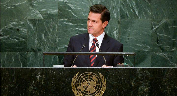 El Presidente Enrique Peña Nieto durante la Asamblea General de la ONU