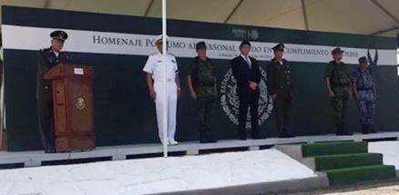 Homenaje póstumo al personal militar fallecido en el cumplimiento de su deber, en Culiacán, Sin.