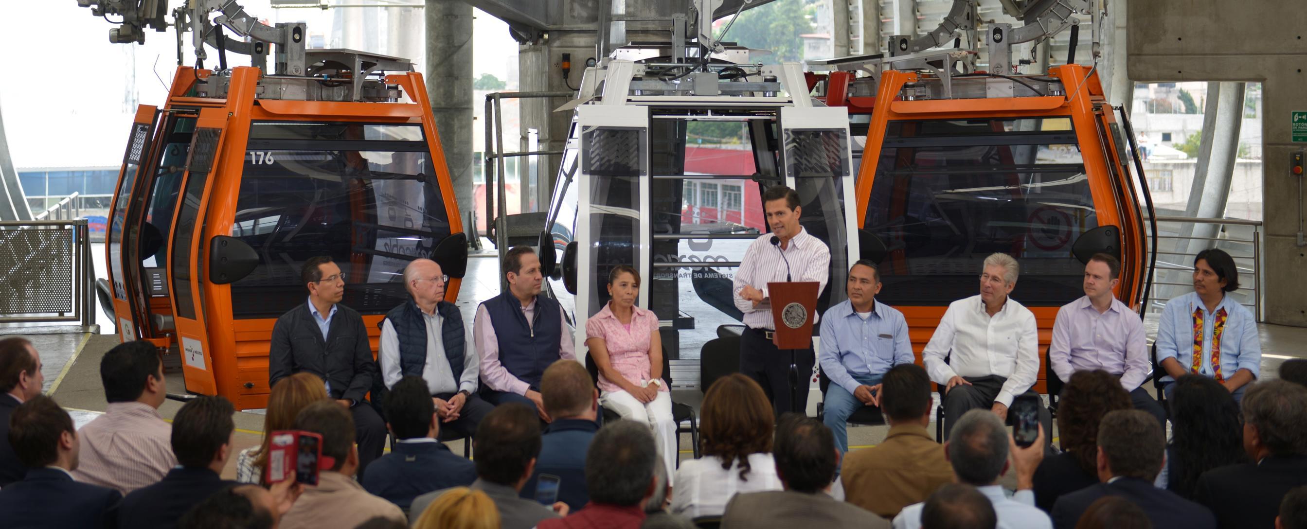 """""""Mexicable Ecatepec""""es unsistema de transporte masivo que permitirá hacer en 17 minutos un recorrido que antes se hacía entre 30 y 40 minutos, a un costo más económico."""