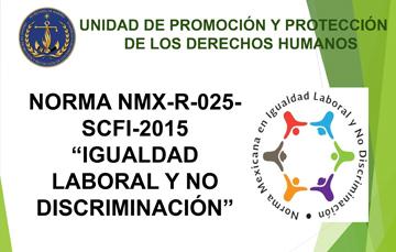 """""""Igualdad laboral y No Discriminacion"""""""