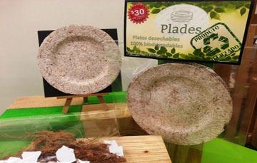 Elaboración de platos desechables biodegradables.