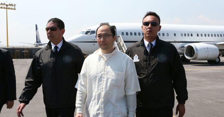 Zhenli Ye Gon fue entregado en extradición por las autoridades del gobierno de EUA, a nuestro país