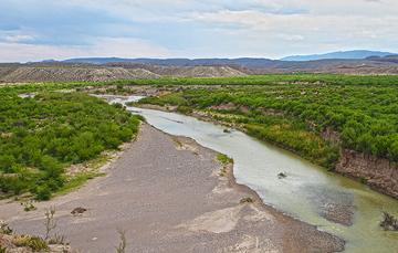 foto panorámica del Río Bravo