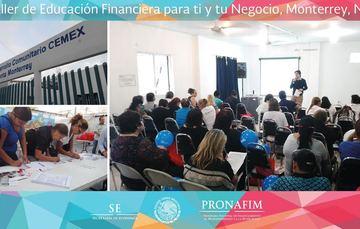 PRONAFIM llevó a cabo su décimo taller de Educación Financiera para ti y tu Negocio.