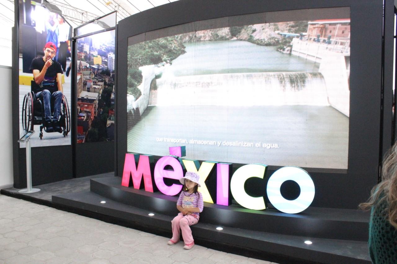 Perspectiva del Pabellón México, que funcionó en la EXPO-Hábitat 3.