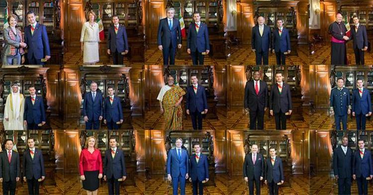 Se trata de 7 Embajadores Residentes en México y 13 Concurrentes.