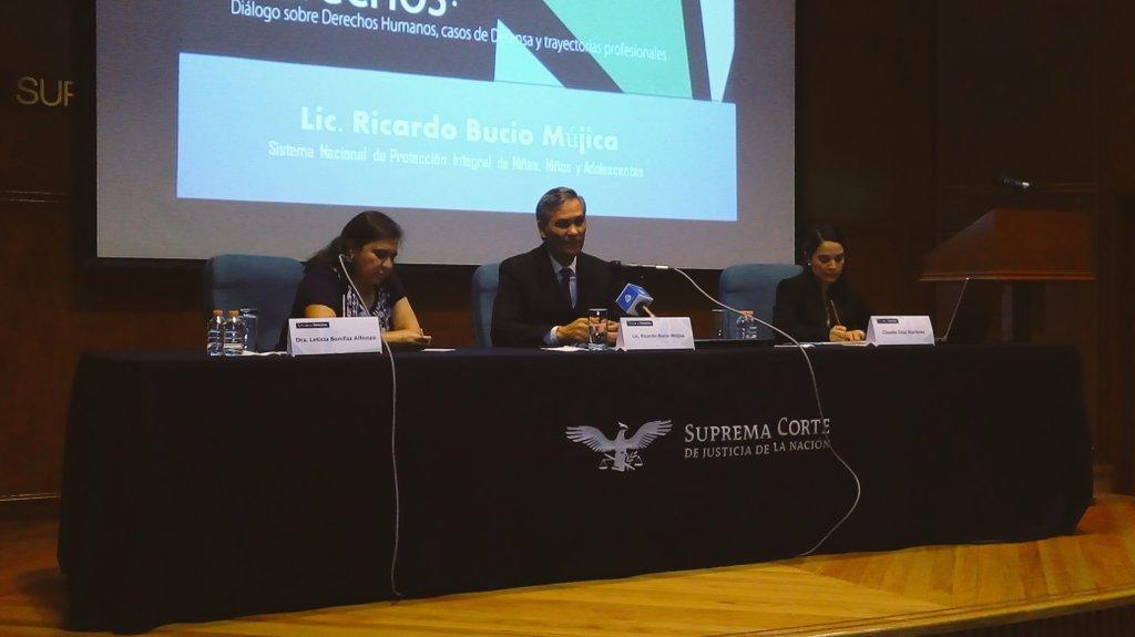 Ricardo Bucio, secretario ejecutivo de #SIPINNA, participa en el diálogo sobre derechos de niñas, niños y adolescentes.