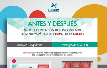 Infografía sobre nueva página web CONSAR