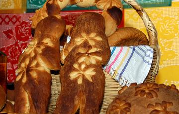 Variedades de pan de muerto en México.