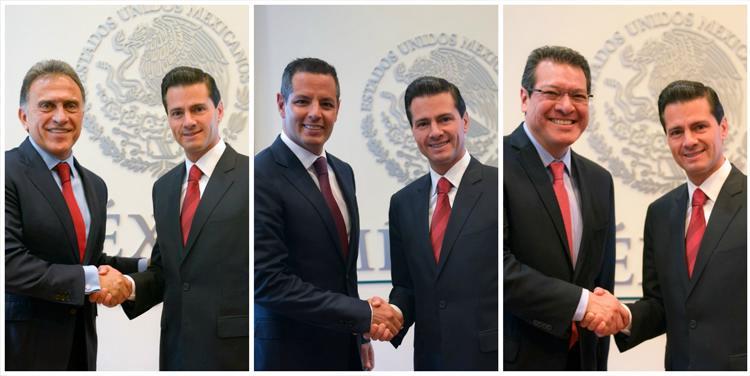 Los Gobernadores Electos coincidieron en reiterar al Presidente Peña Nieto la importancia de que el Gobierno de la República acompañe los esfuerzos que emprenderán, con el objetivo de alcanzar mayor progreso en sus estados.