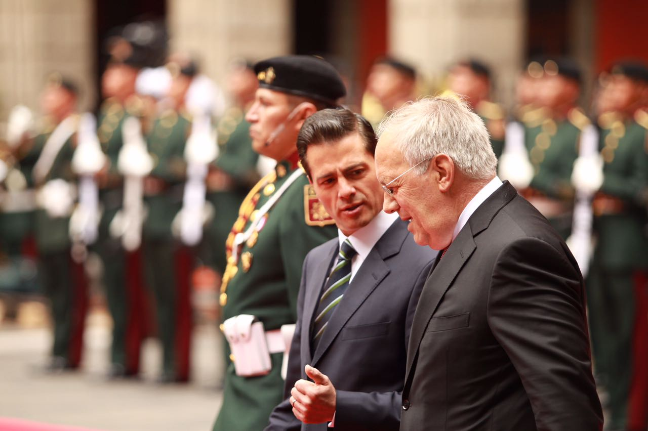 Mexican President Enrique Peña Nieto and Swiss President Johann Schneider-Ammann