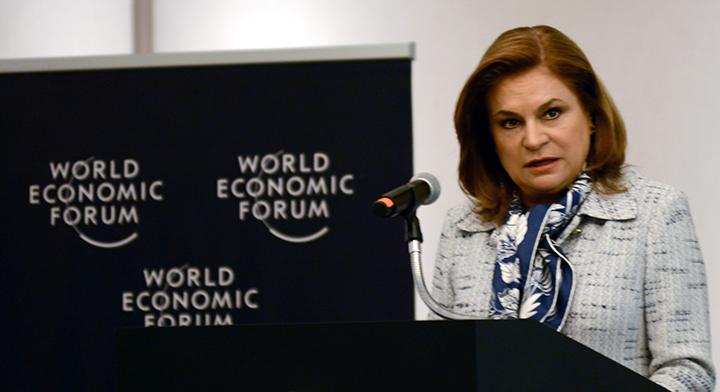 Secretaria Arely Gómez González en el World Economic Forum
