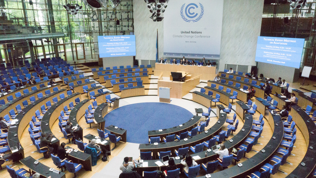 Auditorio donde se celebra la COP22.