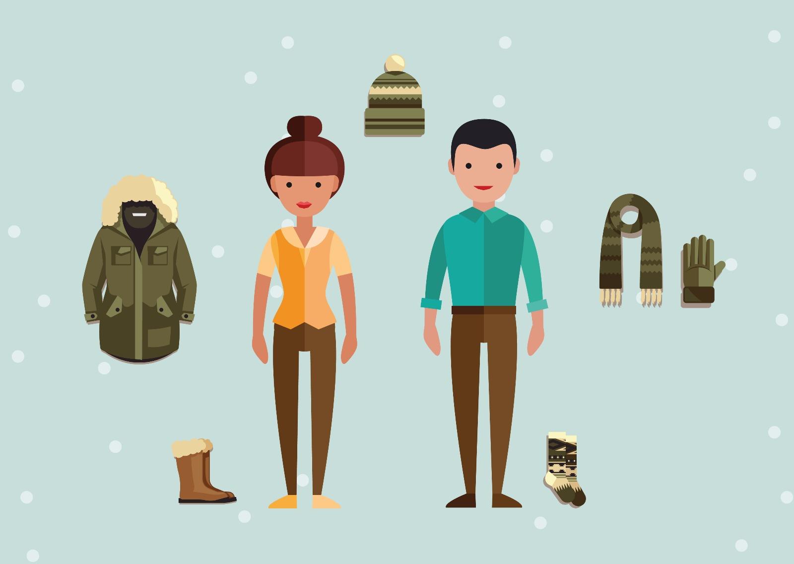 Imagen de mujer y hombre con prendas de vestir