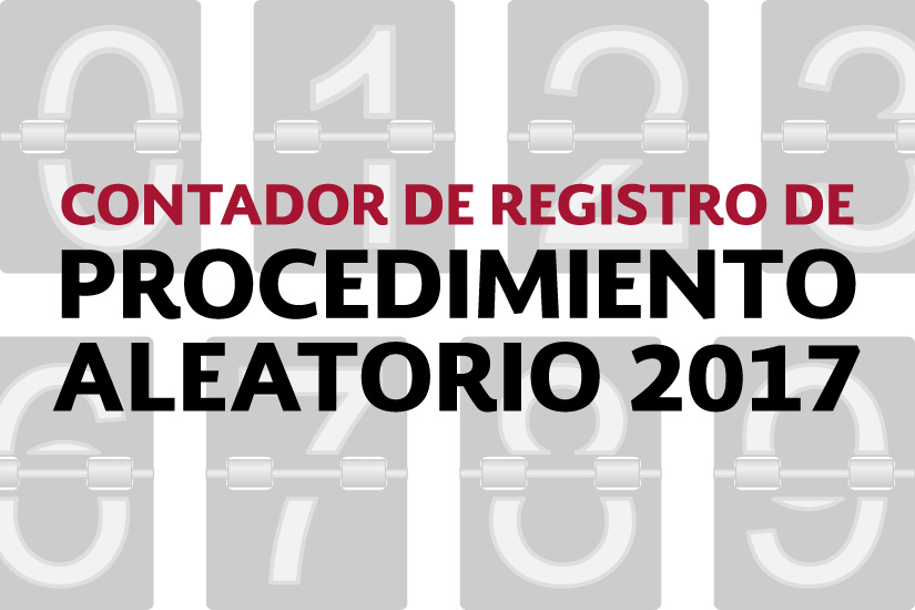 Contador de Registros de Procedimiento Aleatorio 2017