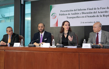 Versión Estenográfica de la presentación del informe final y clausura de la Mesa de diálogo sobre el Acuerdo de Asociación Transpacífico